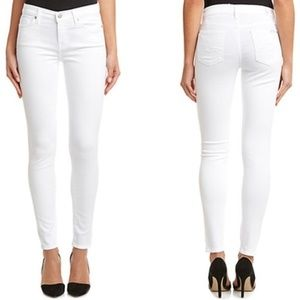 7 For All Mankind Gwenevere White Skinny Jeans 24